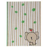 Elephant poo A6 notebook