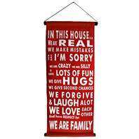 Banner. red, in this house...