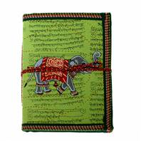 Notebook 18.5x13cm, elephant green