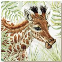 Greetings card, safari giraffe