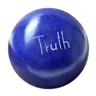 Palewa sentiment pebble, blue - Truth
