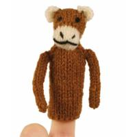 Finger puppet brown monkey