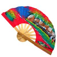 Cotton fan assorted colours 20cm