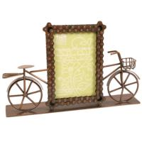 "Bike chain frame with bike 4""x6"" photo"