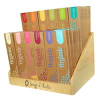 72 packs of incense sticks, Organic Goodness, (each pack 15g) + display stand