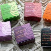Solid perfume 8g starter pack, 3 x 6 scents