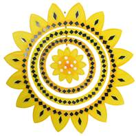 Mirror mobile sunflower yellow 27cm