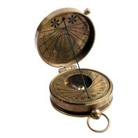 Pocket sundial and compass in brass, Mary Rose replica
