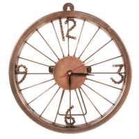 Bike wheel clock with bike chain numbers