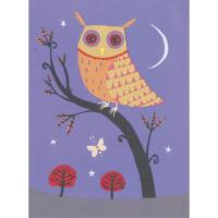 Illustrated greetings card owl 17x12.5cm