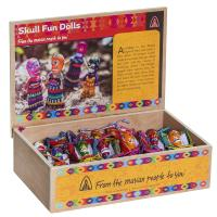 Worry doll skull with bag, box of 36