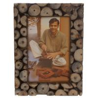 Photo frame, decorative wood twig slices for 6x4inch photo