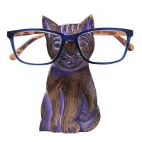 Spectacle stand, mango wood, cat purple