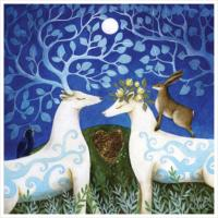 "Greetings card ""Handfasting in the Moonlight"" 16x16cm"