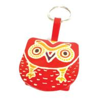 Leather keyring purse owl