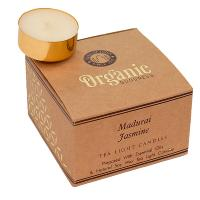 12 t-lite scented candles, Organic Goodness, Madurai Jasmine